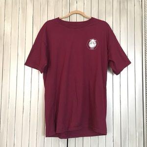 Vans Maroon Graphic Short Sleeve T Shirt Medium